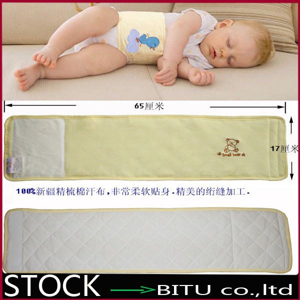 100pcs/lot /100% Cotton embroidered baby belly circumference BB107(China (Mainland))