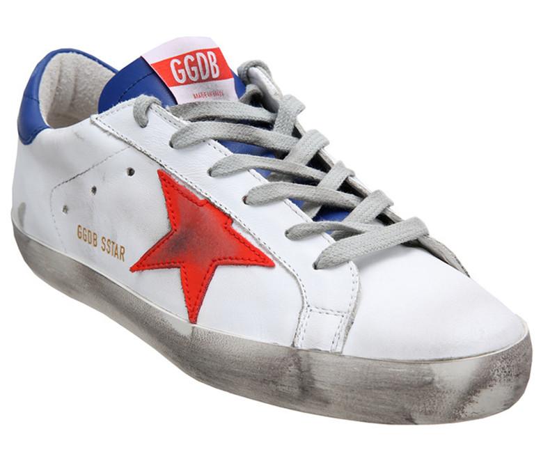 Original Itlay Brand Golden Goose Pelle Casual Shoes Superstar Women Men Genuine Leather GGDB Star White Shoes Scarpe Da Donna