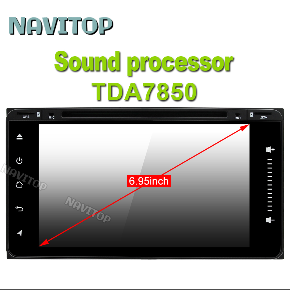 Navitop android 6.0 car dvd for toyota avensis hilux toyota corolla 2003 2004 2005 2 din andoid radio(China (Mainland))