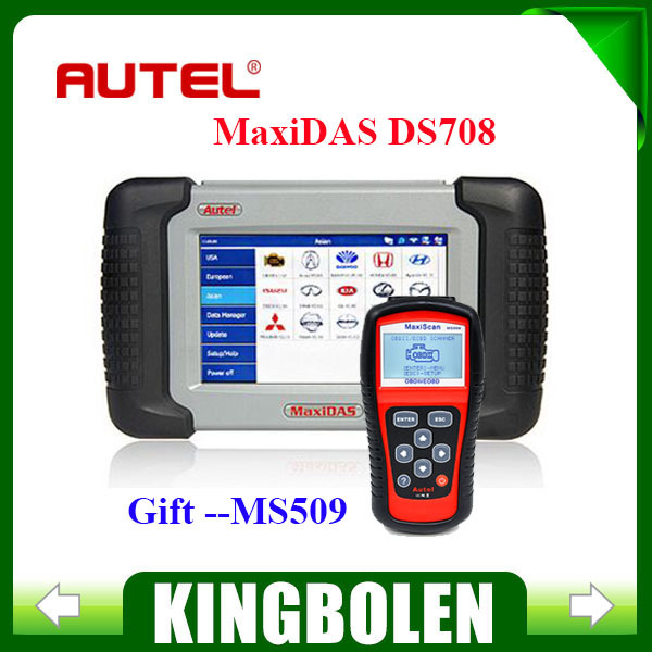 2015 Top-Rated 100% Original Autel MAXIDAS DS708 Scanner update via internet autel scanner with MS509 Gift In stock(China (Mainland))