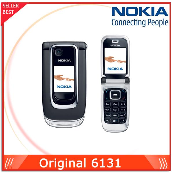 100%Original Nokia 6131 cheap gsm cell phone Unlocked Good quality 1 year warranty free shipping(China (Mainland))