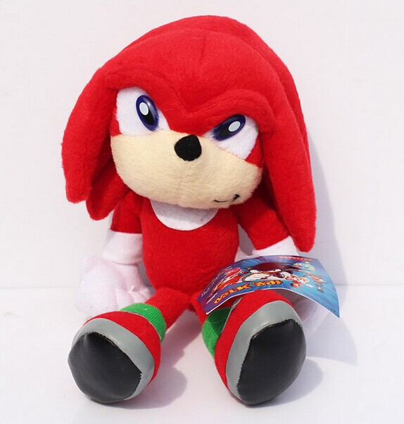 EMS 100pcs 923cm Cartoon Red Sonic the hedgehog Stuffed Animals Plush Toys Soft Doll With Tag Wholesale<br><br>Aliexpress