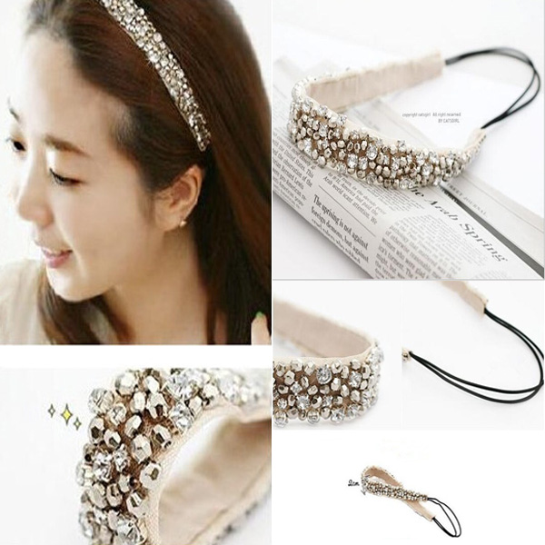 Гаджет  Free Shipping 1pc New Trendy Fashion Lovely Glitter Women and Girls Fashion Hair Accesorries Crystal Headband None Одежда и аксессуары