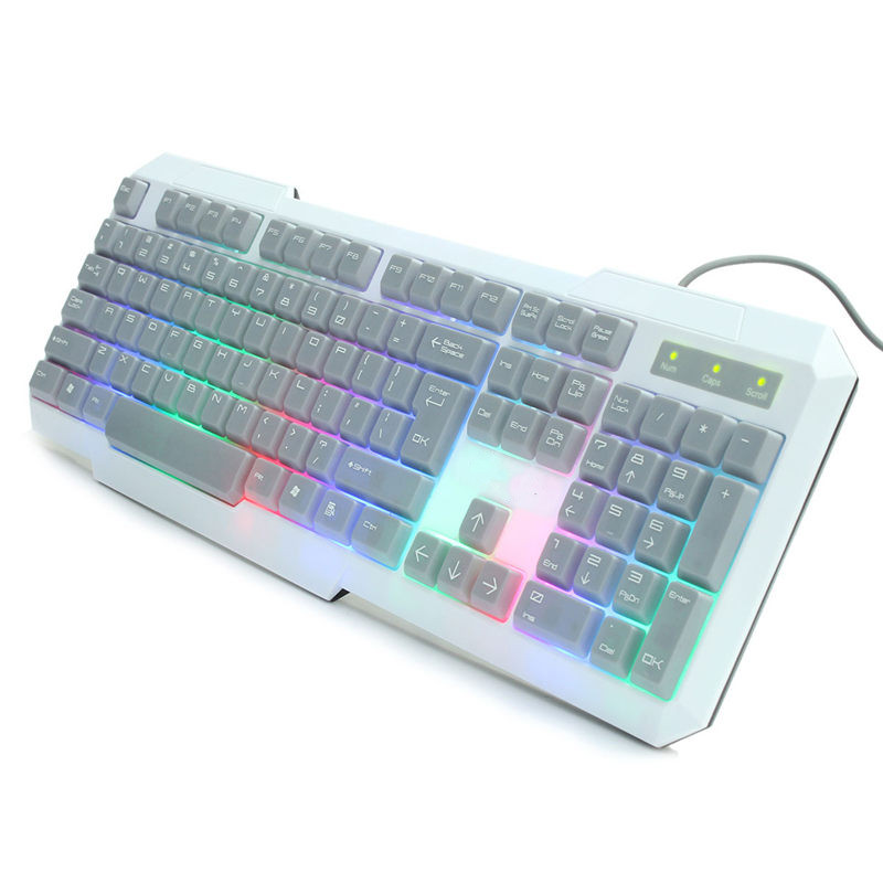 Brand New Universal Colorful LED Backlit Backlight Game Keyboard Computer Laptop PC USB Wired Pro Gaming Illuminated Keyboard(China (Mainland))