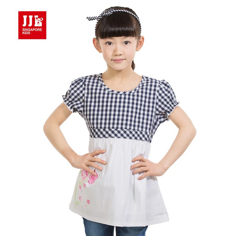 2015 news babys girls sweet dress kids korea styles dress children's lovely one piece clothes girls summers design size 4-11y(China (Mainland))