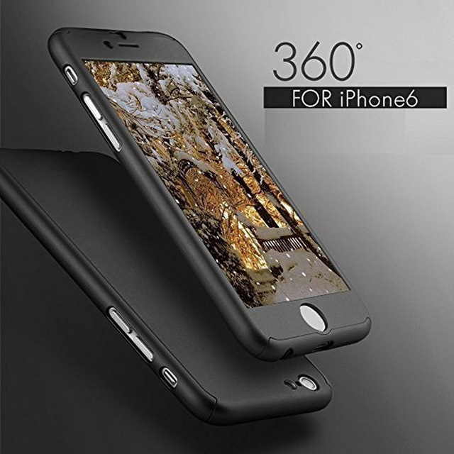 Luxury 360 Degree Full Cover Case For iPhone 6 6s 7 Plus With Tempered Glass For i6 i6s i7 Plus Mobile Phone Case Capa Coque