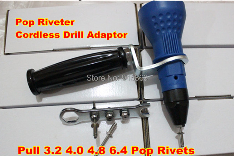 200pcs kits POP Rivet tool CORDLESS Rivet DRILL 3 2 6 4 electric riveter gun blind