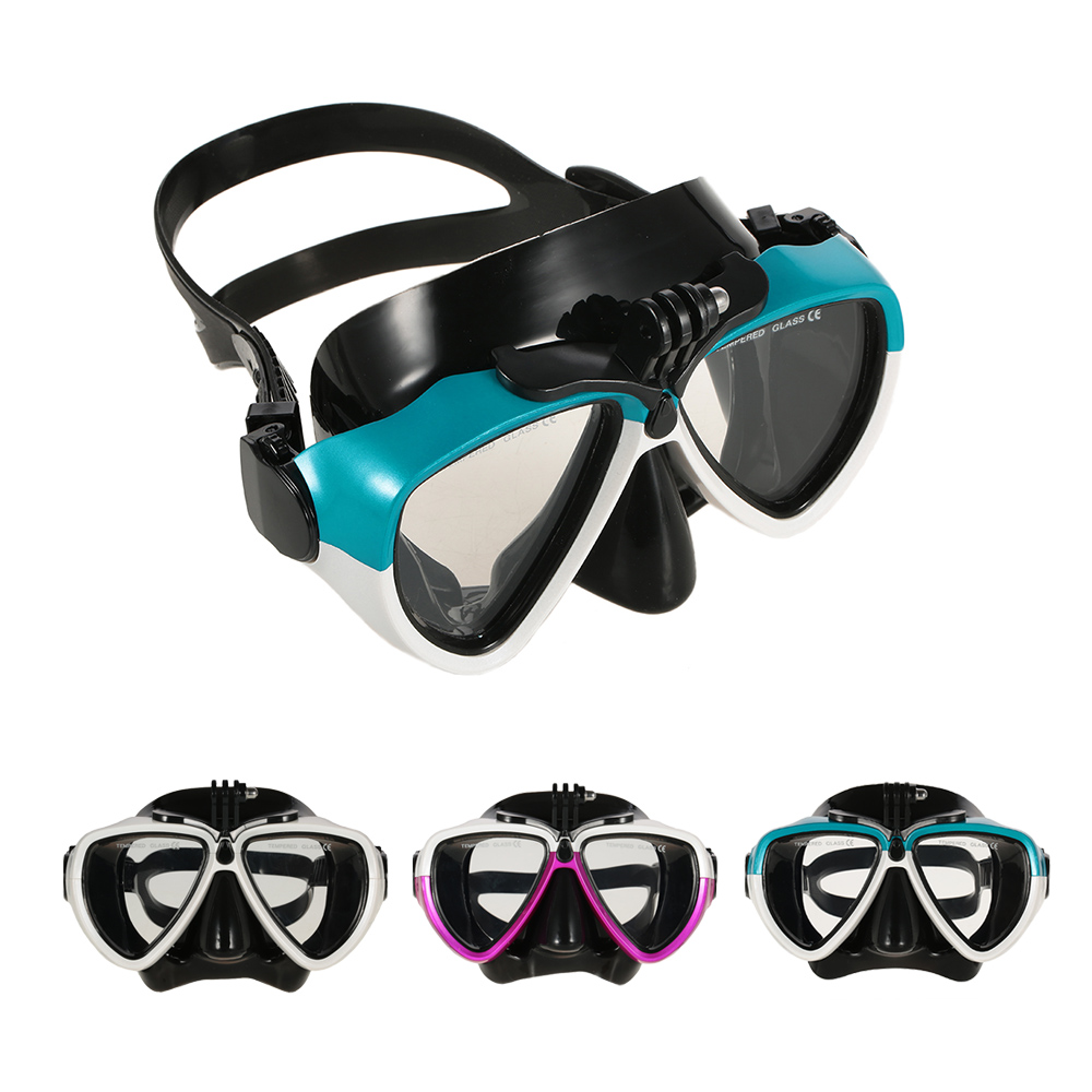 Professional Diving Silicone Mask and Snorkel Dry Snorkel Two-window Tempered Glass Mask Set for Scuba Swimming Spearfishing(China (Mainland))