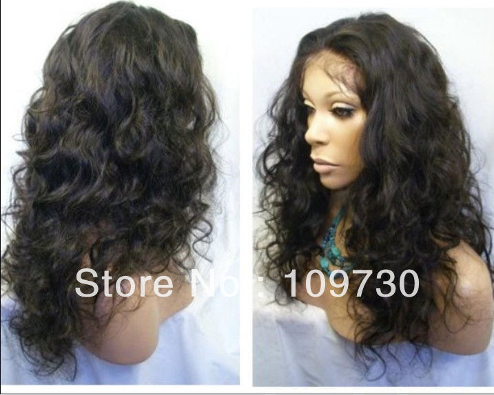 jj 00656 Malaysia Curly indian remy hair full lace wigs /lace front wigs