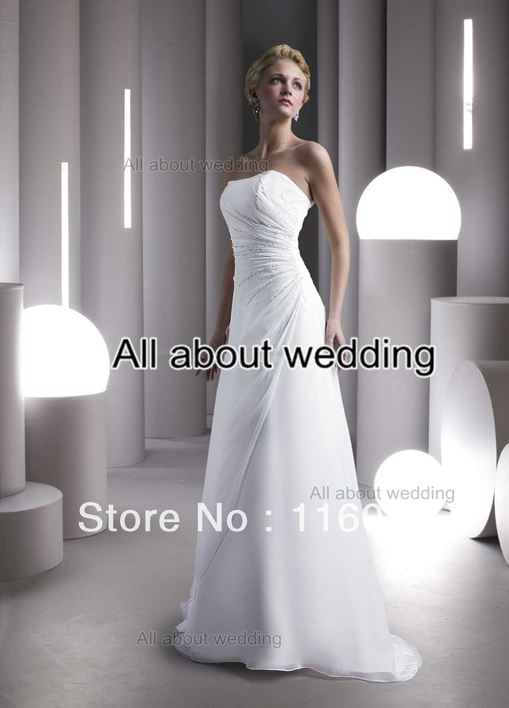 Wedding Dresses With Color Accent