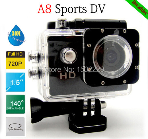 Waterproof sports DV recorder SJ4000 A8 Action Camera Full HD 720P 1.5 inch Car DVR H.264 5 Mega Underwater 30M Video Camera(China (Mainland))