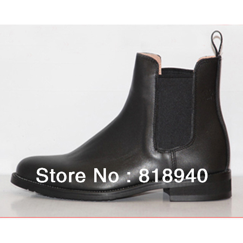 Men Ankle Boots Leather Pull On Chelsea Dealer Horse Riding Evening Tuxedo Black/Brown New 041-312(China (Mainland))
