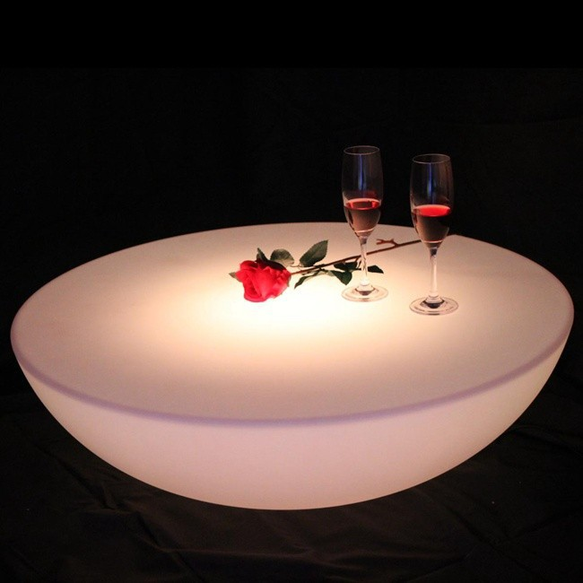 Free shipping IR remote control colorful modern outdoor furniture led bar table(China (Mainland))