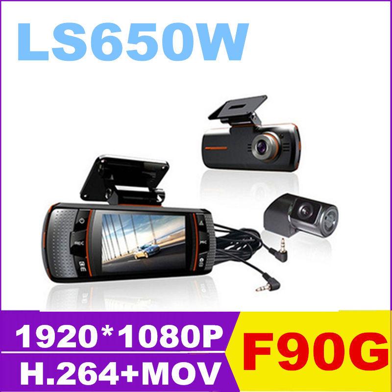 20pcs best LS650W FUll HD car DVR styling cam DVRs camera Novatek video Recorder dash cam car cam 1080P 2.7'' LCD camcorder free(China (Mainland))