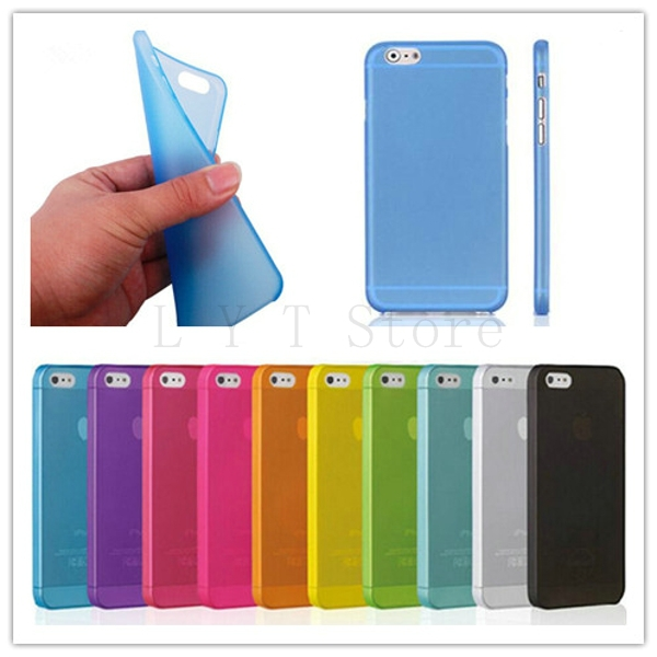 Candy Colors Matte frosted Skin Shell Case For Apple iPhone 6 Cover Mobile Phone Bag Protection Shell for Iphone 6 4.7 inch(China (Mainland))