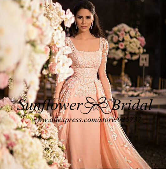 Peach Colored Wedding Gown - Wedding Dresses Online