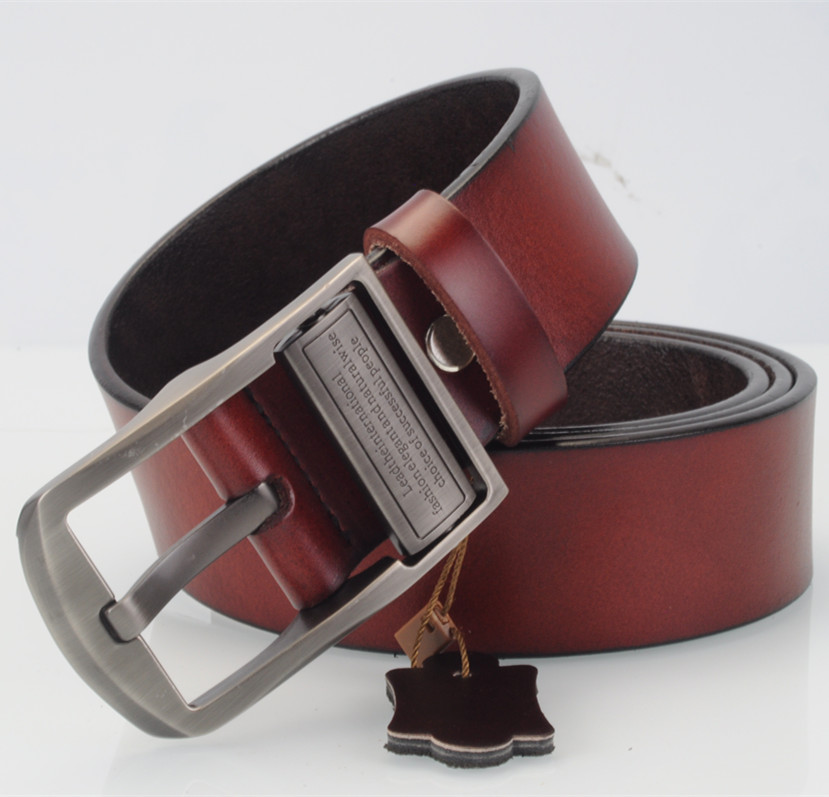 2016 New product mens belts luxury 100% genuine leather brand name belt for men Pin jeans belts best quality male girdle(China (Mainland))