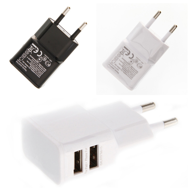 EU Plug 5V 2A Dual USB Travel Convenient Wall USB Charger Adapterfor Samsung for iPhone for HTC for MOTO Perfect(China (Mainland))