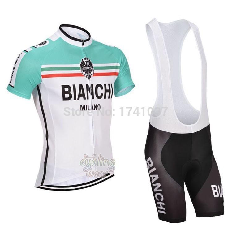 wholesale Bianchi team Men's Bike Suits/Cycling Jersey Shorts/summer outdoor Bicycle Short Sleeve Clothing BIB free shipping(China (Mainland))