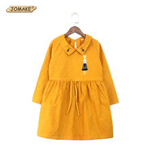 Buy 2017 New Spring Girls Dress Cartoon Rabbit Embroidery Children Long Sleeve Turn Collar Dress Kids Cute Girls Clothes for $13.57 in AliExpress store