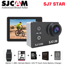 "Buy 4 K 30fps SJCAM SJ7 Star Ultra HD Camera Ambarella A12S75 2.0""Touch Screen Waterproof Remote Sport DV 4k 30fps Action SJ Cam for $265.33 in AliExpress store"