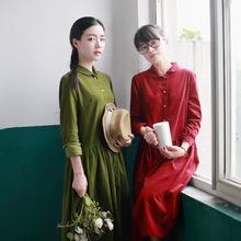 New Japanese Ethnic Mori Girl Forest Lolita Kawaii Fresh Vintage Corduroy Preppy Ladies Dropped Pleated Brief Cute Casual Dress