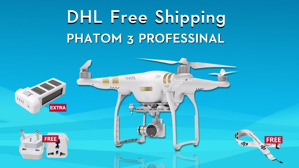 (With1 batteries) Original Dji phantom 3 professional Drone with 4K Full HD wifi camera drone gopro quadcopter GPS system