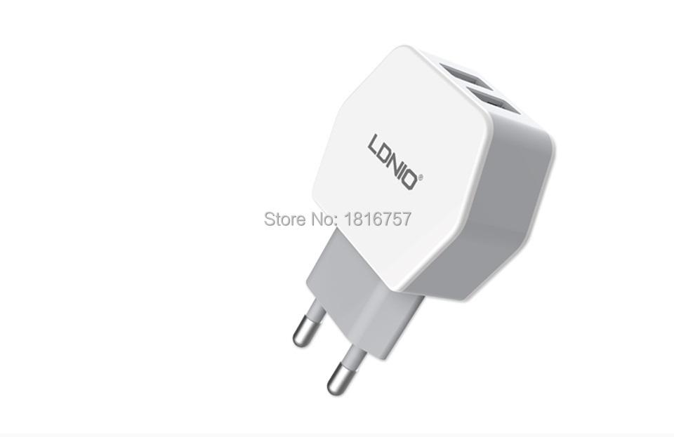 LDNIO Original Universal Mobile Phone USB Wall Charger 2.1A 5V 2 USB EU Plug For iPhone iPad iPod Samsung Sony LG cell phone