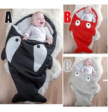 Cartoon Shark Sleeping Bag Newborns Sleeping Bag Winter Strollers Bed Swaddle Blanket Wrap Cute Bedding Baby Sleepsacks Retail(China (Mainland))