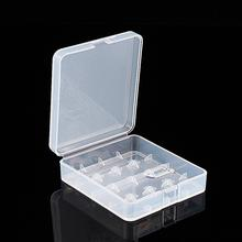 Free Shipping 1PCS Plastic Transparent White 4 x 18650  Battery Case Holder Storage Box  New Arrival