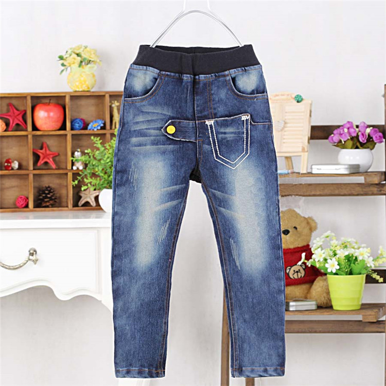 2015 spring & autumn & winter pockets style little boys jeans baby boys fashion pants boys long trousers A2028(China (Mainland))