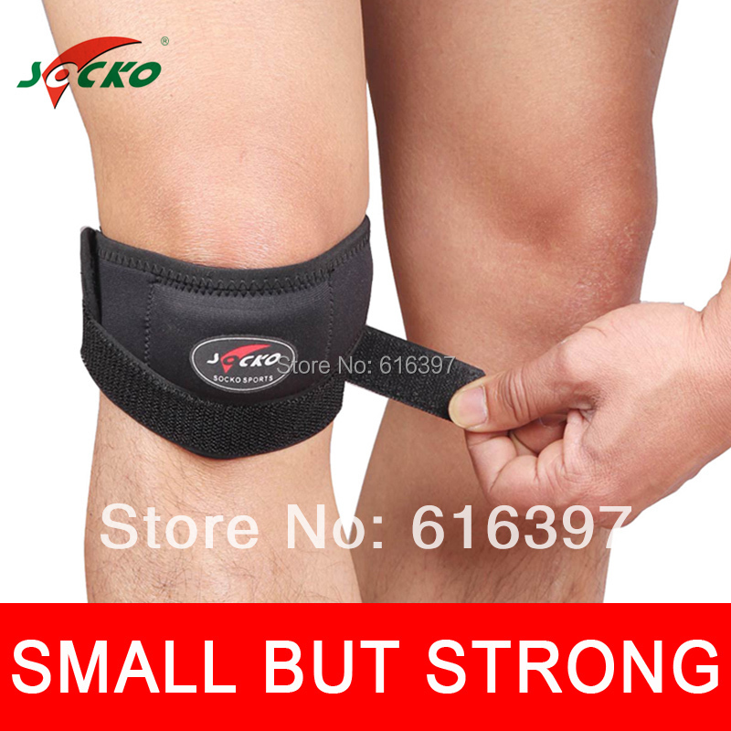 Adjustable Patella Knee Tendon Strap Protector Guard Support Pad Belted Sports Knee Brace Black 2231(China (Mainland))