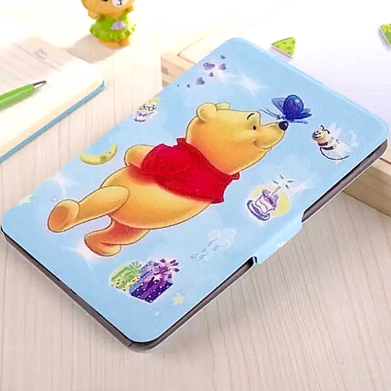"For iPad Mini 2 Retina Cute Cartoon Cases Flip Ultra Thin Stand Cover Tablet Case 7.9"" for iPad Mini 1 2 3 Smart PU Leather Case(China (Mainland))"
