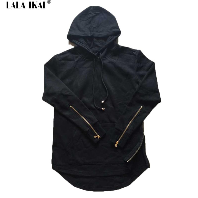 Hooded Side Zipper Kanye Men Hoodie Hip Hop Swag Sweatshirt The Men's Sports Apparel 2016 Spring Thin Street Style SMR0271-5(China (Mainland))