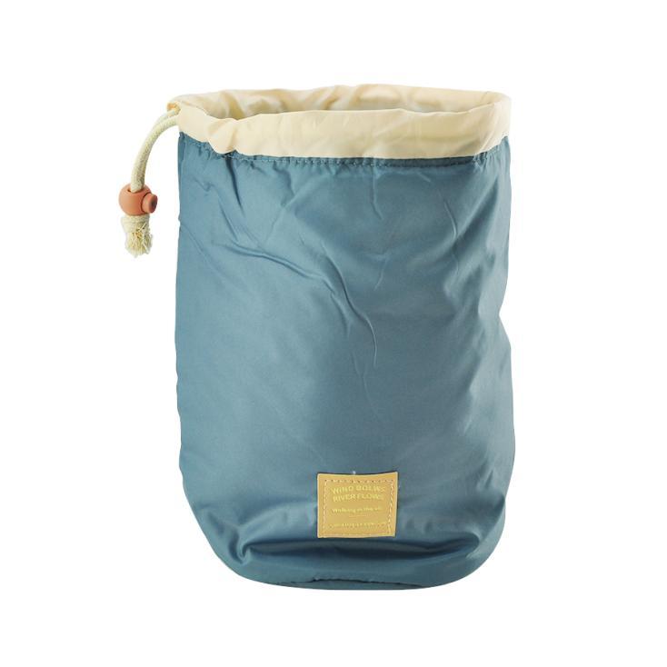 Nylon Material Women Lady Pouch Bucket Barrel Shaped Cosmetic Makeup Bag Set Travel Case Purse Set(China (Mainland))