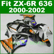Motorcycle Fairings for Kawasaki 2000 2001 2002  zx6r fairings kit  Play Station 2 Ninja 636 00 01 02 bodywork kits MJ91