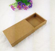 24PCS/Lot Free Shipping Gift box Jewelry box Retail Kraft Paper Drawer Box Gift Kraft Power Bank Packaging Cardboard Boxes