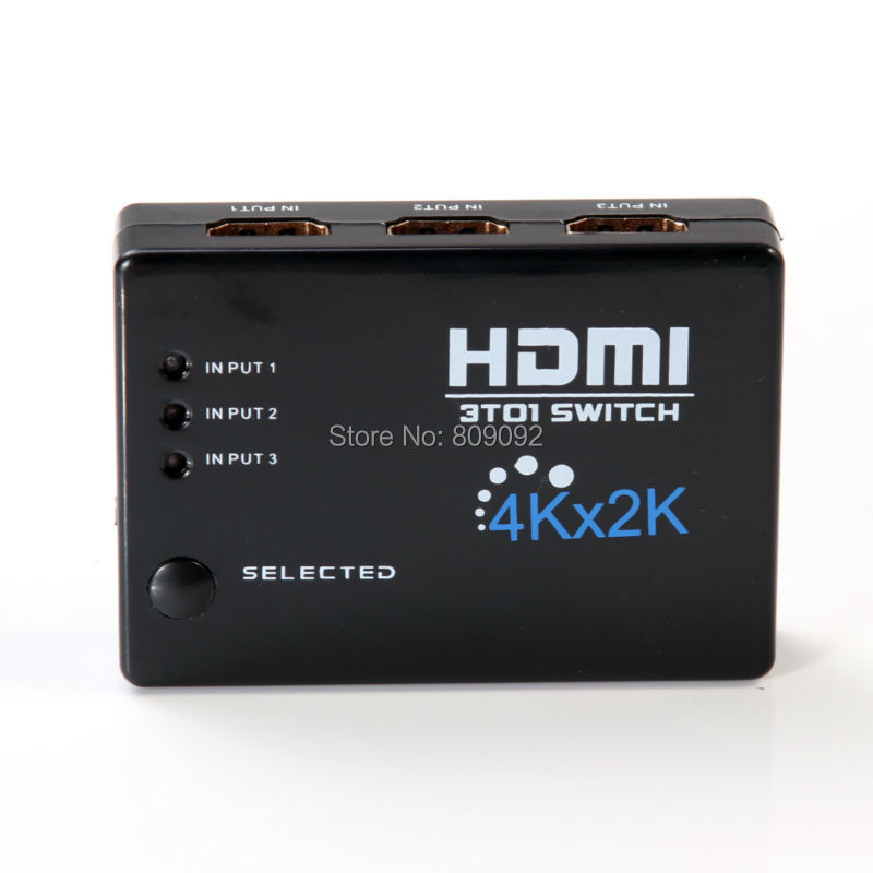3in 1out 4K*2K HDMI Switch Hub Splitter Switcher Adapter HD for HDTV + IR Remote(China (Mainland))