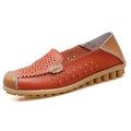 Summer Women Shoes Fashion Genuine Leather Cutout Sandals Leisure Flats New 2017 Soft Comfortable Sandals