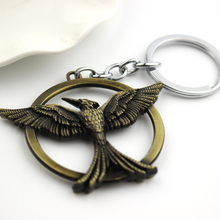 2015 Steampunk The Hunger Games 3 Antique Bronze Birds Key Chain Ring Classic Vintage Gothic Maxi Women And Men Keychain Jewelry