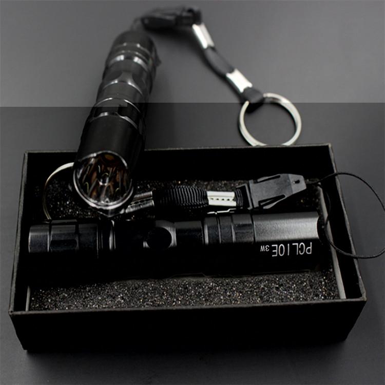 2016 new light waterproof LED small flashlight keychain flashlight with Gift Box(China (Mainland))
