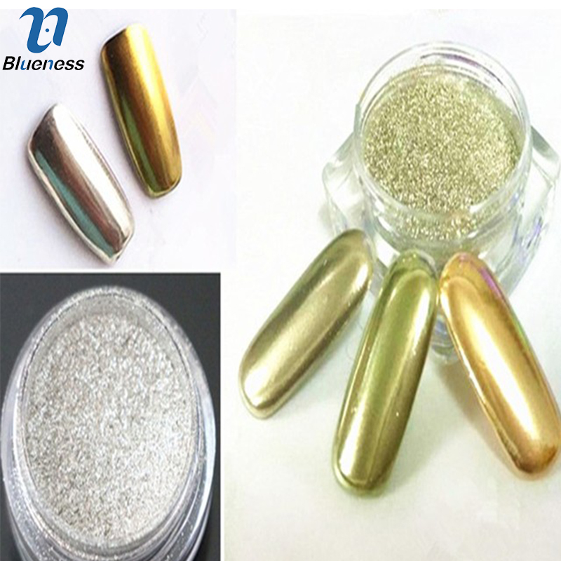 1g/Box 3D Gold Sliver Colors Choice Nail Art Shine Mirror Powder Beauty Charm Manicure Pigment Powder Nail Glitter JH420(China (Mainland))