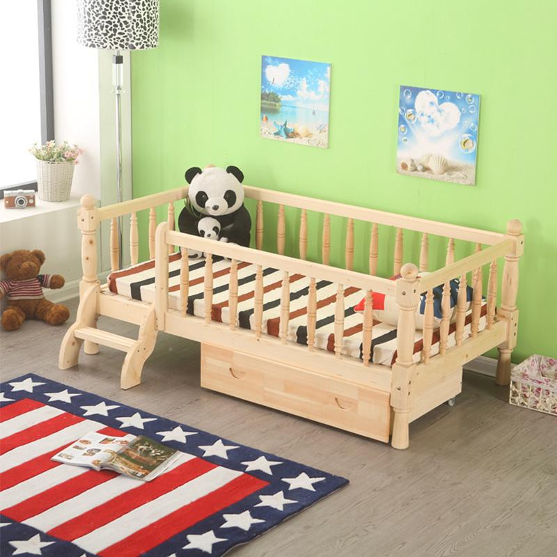 Cama de madera de pino compra lotes baratos de cama de for Cama infantil nina
