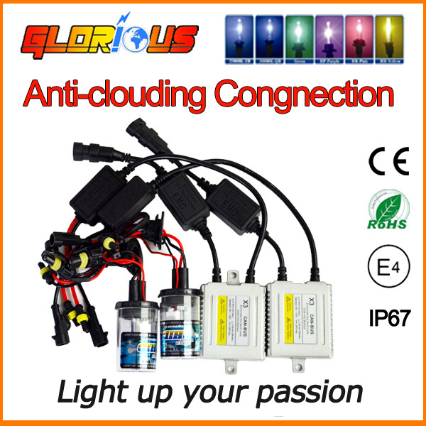 Glorious HID light kit 35w X3 H4-2 H13-2 9004 9007 Low xenon and high halogen 4300K 5000K 6000K 8000K 10000K,car hid kit(China (Mainland))