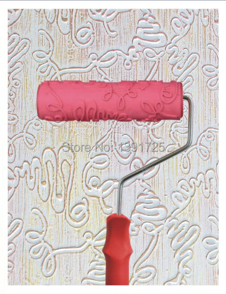 Wall decoration Paint tool Free Shipping Wall Texture Roller Flower Mould Liquid Wall Paper Patterned Paint Roller (063T)(China (Mainland))