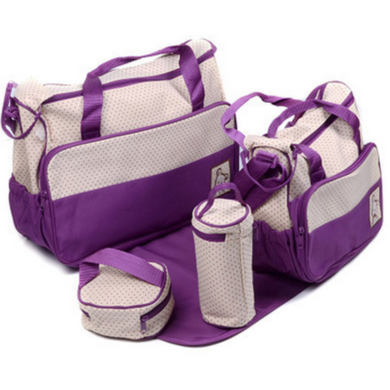 5pcs baby diaper bags for mom hobos mother bag one shoulder baby nappy bags 8 colors newborn. Black Bedroom Furniture Sets. Home Design Ideas