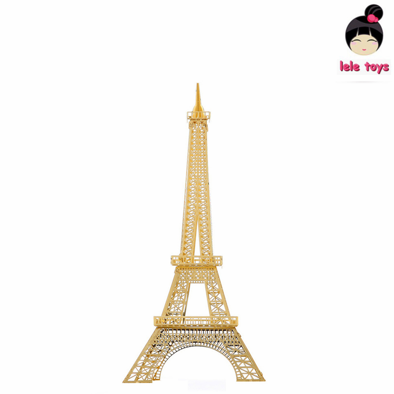 Construction Famous Buildings Over The World 3D Metal Model Puzzles EIFFEL TOWER Chinese Metal Earth Stainless Steel(China (Mainland))