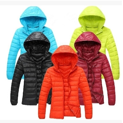 Brand 2015 Winter Jacket Women Ultra-thin Short Down Jacket Slim Solid Color Hooded Outdoor Coat Inverno Plus Size XXL XXXL PP01(China (Mainland))