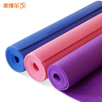 Yoga mat fitness mat double faced broadened slip-resistant thickening male sports mat 6mm thickness