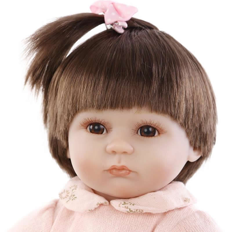 Фотография New 18 Inch Cute Reborn Babies Dolls Soft Silicone Lifelike Newborn Baby Girl Dolls That Look Real Kids Birthday Xmas Gift